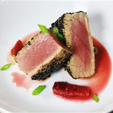 Pan-Seared Ahi Tuna with Blood Orange Sauce