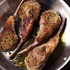 Lamb Chops with an Olive-and-Herb Crust Recipe