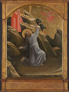 RIJKS: Lorenzo Monaco: Saint Francis Receiving the Stigmata 1420