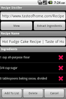 Screenshot of Recipe Distiller
