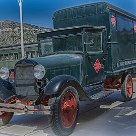 Truck & Train by Jim Shafer - Transportation Automobiles ( trucks, ely nv.western images, jim shafer, cowboys, western, antique cars, trains, nv )