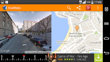 Screenshot of DualMaps