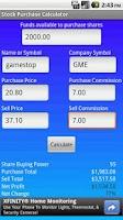Screenshot of Stock Purchase Calculator