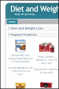 Diet and Weight Loss - screenshot