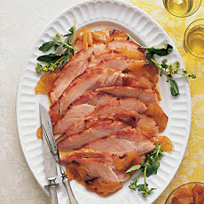 Pineapple-Mustard-Glazed Ham