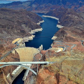 Hoover Dam and Bridge by Dave Joffe - Buildings & Architecture Bridges & Suspended Structures
