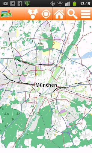 Munich Offline mappa Map