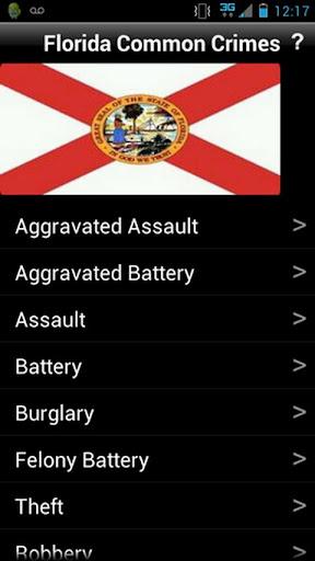 Florida Common Crimes Free