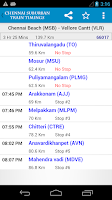 Screenshot of Chennai MRTS/EMU Train Timings