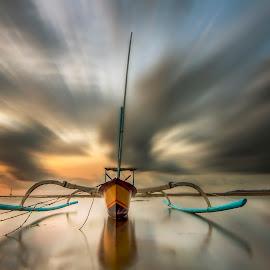 The Grandeur by Ade Irgha - Transportation Boats ( bali, sky, traditional boat, sanur, seascape, landscape, boat )
