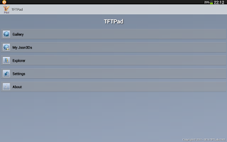 Screenshot of TFTPad