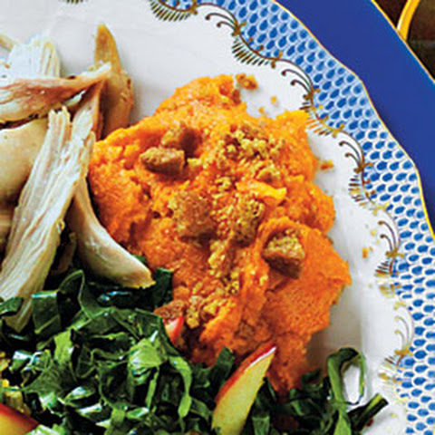 Mashed Sweet Potatoes with Autumn Spices