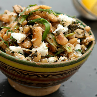Ottolenghi's Fried Beans with Sorrel, Feta & Sumac