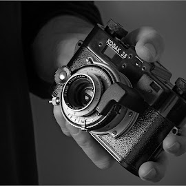 1940s Kodak 35 Rangefinder  by Guy Diehl  ©2014 - Artistic Objects Antiques ( camera, kodak, vintage black & white,  )