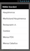 Screenshot of Mensa Hannover
