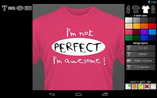 Screenshot of T-shirt Designer