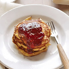 Hazelnut Pancakes with Raspberry Sauce
