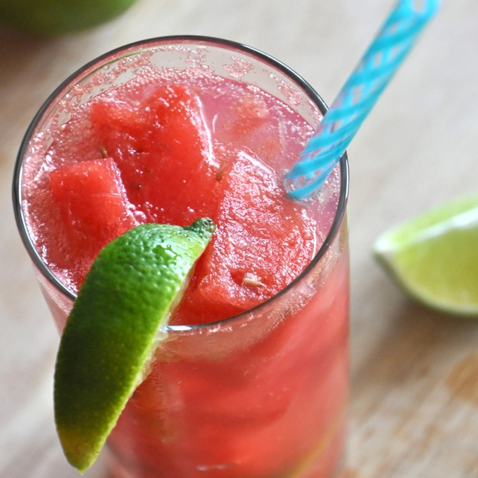 Watermelon Limeade Cocktails Recept | Yummly
