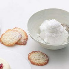 Coconut Wafers with Coconut Granita