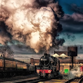 The Good Old Days by Martin Crush - Transportation Trains ( crush photography, crush studio, railway, steam train, locomotive, train )