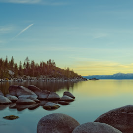 Lake Tahoe calm by Claus Dahm - Landscapes Mountains & Hills ( water, calm, november, california, chill, big stopper, lake tahoe )