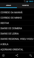 Screenshot of Jornais e revistas - Portugal
