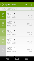 Screenshot of TripMate Perth Transit App