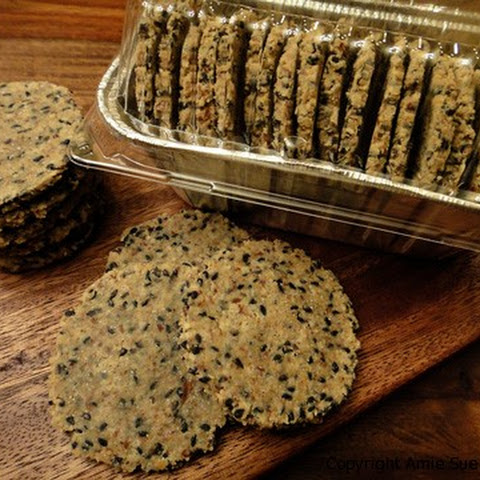 Black Sesame Wasabi Cracker