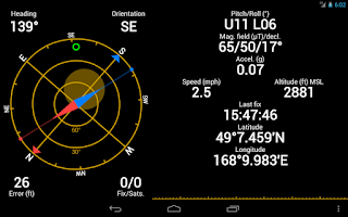 Screenshot of GPS Status & Toolbox