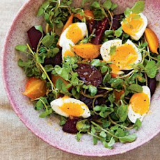 Beet and Watercress Salad with Farm Eggs