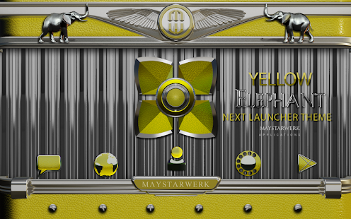 Next Launcher Theme Yellow Ele - screenshot