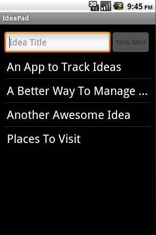 IdeaPad: Idea Notepad