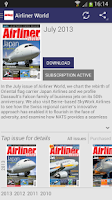 Screenshot of Airliner World Magazine