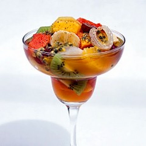 Tropical Fruit Salad in Planter's Punch