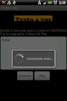 Screenshot of Texto a voz