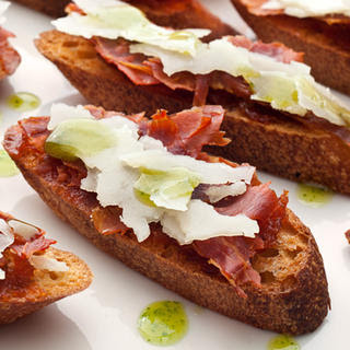 Serrano Ham and Membrillo Crostini