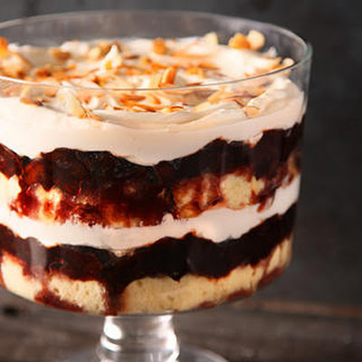 Drunken Prune–Mascarpone Trifle