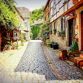 Durbuy, Belgium by Monique Greene - City,  Street & Park  Street Scenes