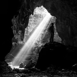 Trawangan Cave in BW by Wawan Adie - Instagram & Mobile Android