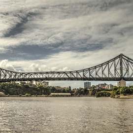 Story Bridge Brisbane Australia by Peter Keast - Buildings & Architecture Bridges & Suspended Structures ( brisbane, bridge, steel, river,  )