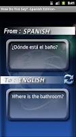 Screenshot of Simple Spanish Translator