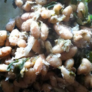 Browned White Beans with Sorrel
