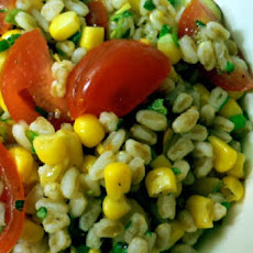 Farro, Green Bean, Corn, and Abraham Lincoln Tomato Salad