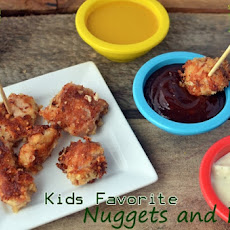 Kids Favorite Nuggets with 3 Homemade Dips