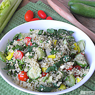 Vegetable Quinoa Salad with Balsamic Dressing