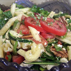 Feta, Spinach and Pecan Pasta Salad