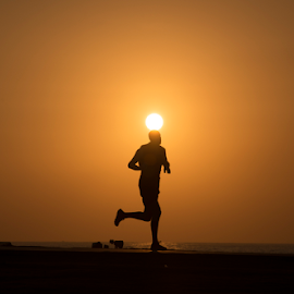 Runnung At Sunset by Yuval Shlomo - Sports & Fitness Fitness