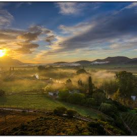 Foggy sunrise by Wessel Badenhorst - Landscapes Sunsets & Sunrises (  )