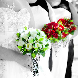 Bridesmaids by Christina Smith - Wedding Other ( bouquet, bridesmaids, wedding photography, bridal portraits, battlefield bed and breakfast, twisted images photography )