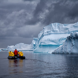 Zodiac in the Antarctic Ice by Dick Eigenraam - Landscapes Waterscapes
